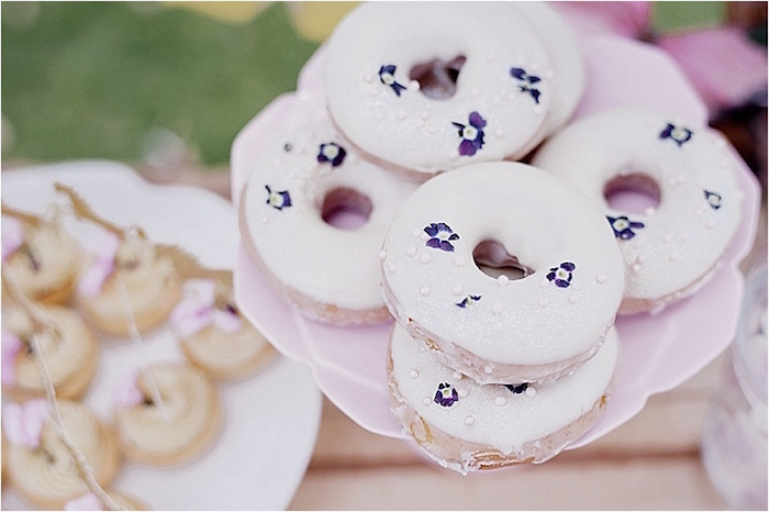 Fairy doughnuts from a Rustic Fairies & Unicorns Birthday Party on Kara's Party Ideas | KarasPartyIdeas.com (19)
