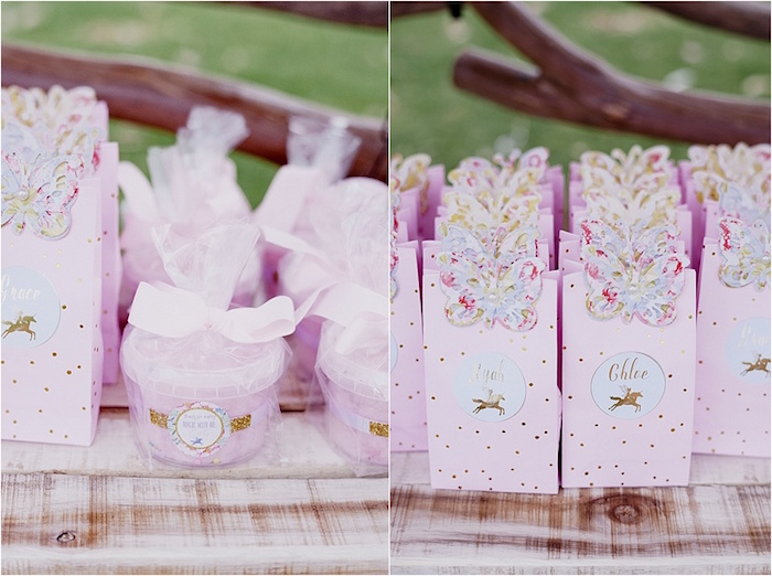 Favors and gift bags from a Rustic Fairies & Unicorns Birthday Party on Kara's Party Ideas | KarasPartyIdeas.com (13)