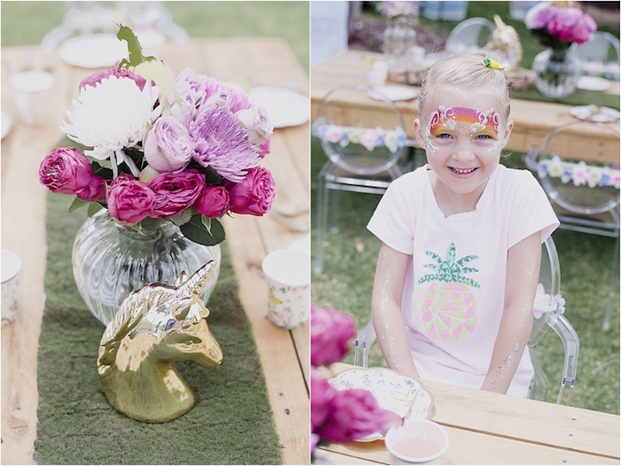 Centerpieces from a Rustic Fairies & Unicorns Birthday Party on Kara's Party Ideas | KarasPartyIdeas.com (8)