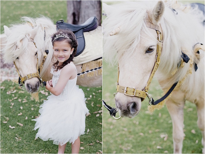 Girl and her pony from a Rustic Fairies & Unicorns Birthday Party on Kara's Party Ideas | KarasPartyIdeas.com (27)
