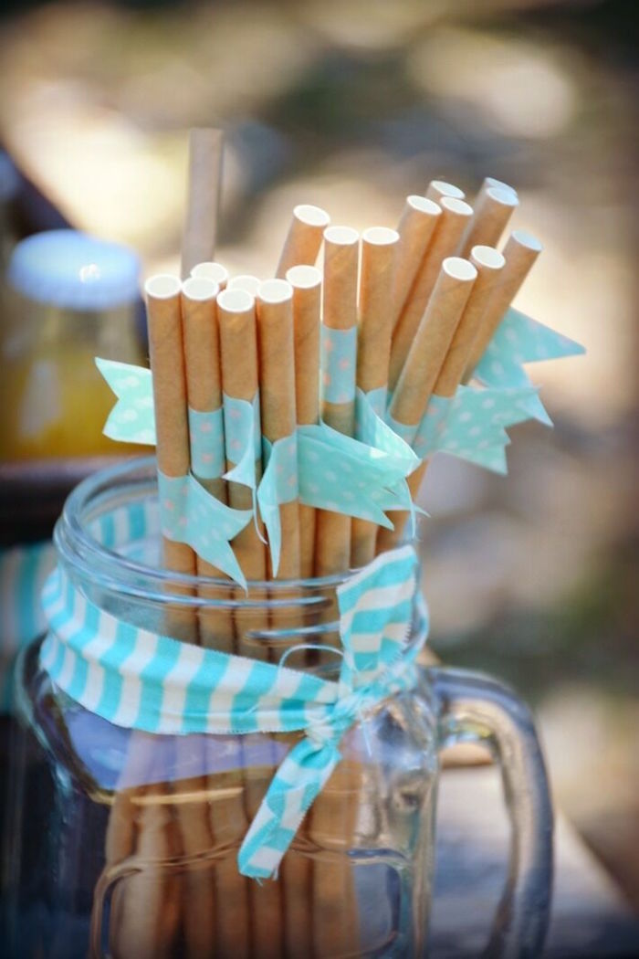 Brown drink straws from a Rustic Horse Birthday Party on Kara's Party Ideas | KarasPartyIdeas.com (23)