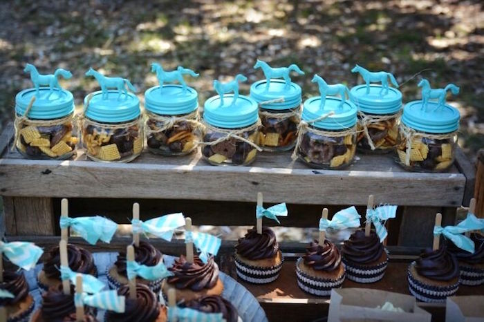 Horse trail mix favor jars from a Rustic Horse Birthday Party on Kara's Party Ideas | KarasPartyIdeas.com (22)