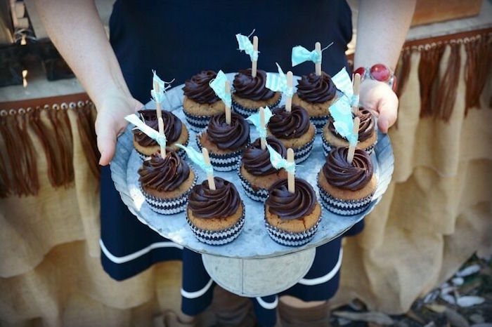 Cupcakes from a Rustic Horse Birthday Party on Kara's Party Ideas | KarasPartyIdeas.com (20)