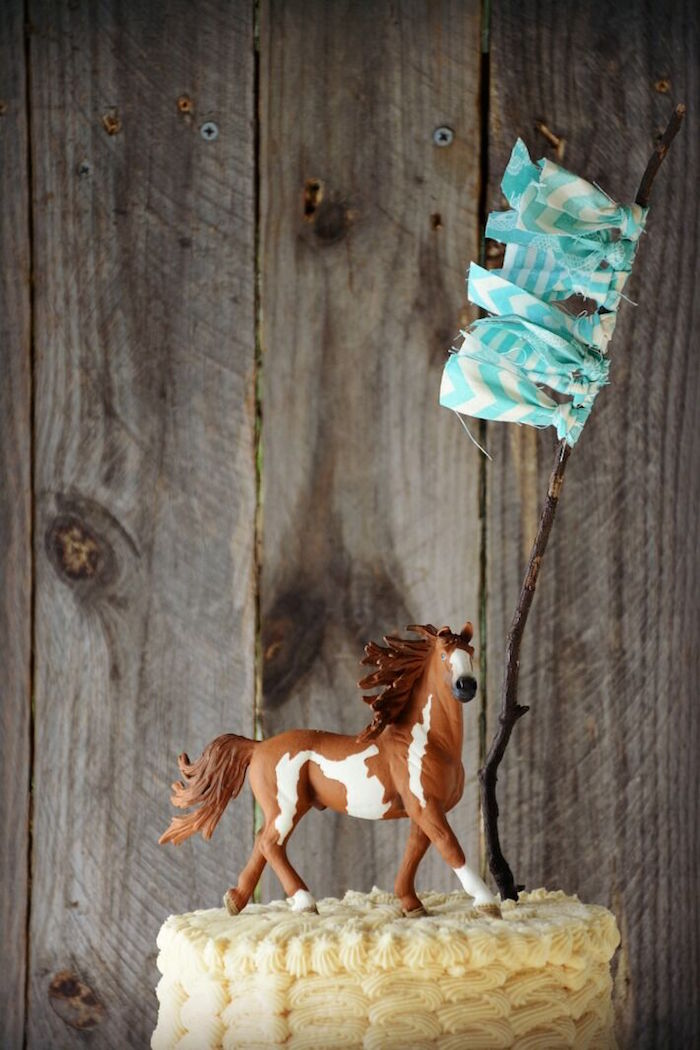 Horse cake topper from a Rustic Horse Birthday Party on Kara's Party Ideas | KarasPartyIdeas.com (7)