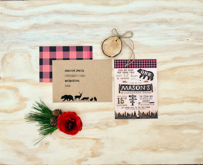 Invitation from a Rustic Wilderness Birthday Party on Kara's Party Ideas | KarasPartyIdeas.com (7)