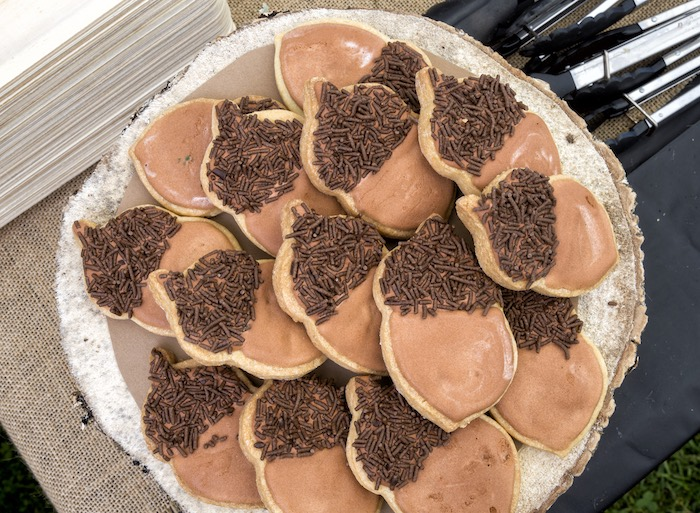 Acorn cookies from a Rustic Wilderness Birthday Party on Kara's Party Ideas | KarasPartyIdeas.com (16)