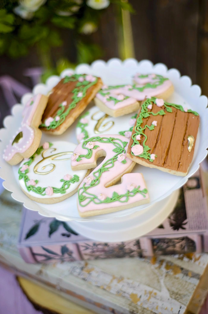 Garden cookies from a Secret Garden Birthday Party on Kara's Party Ideas | KarasPartyIdeas.com (16)
