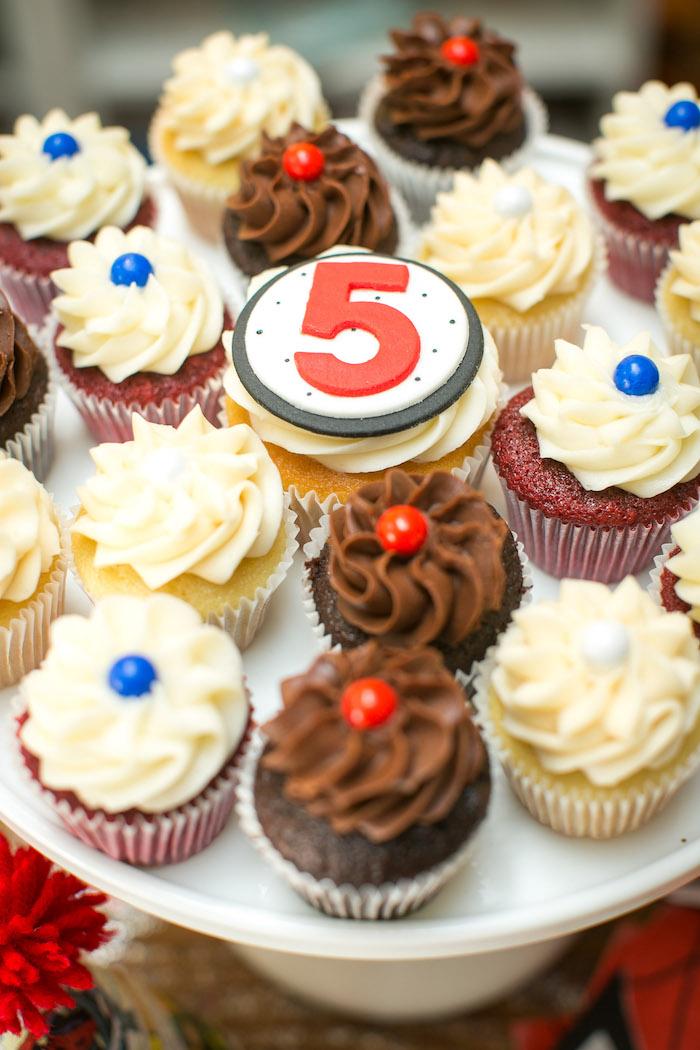 Cupcakes from a Spectacular Spider Man Birthday Party on Kara's Party Ideas | KarasPartyIdeas.com (28)