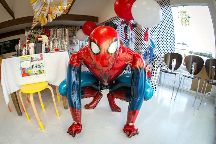 Mylar Spider Man balloon from a Spectacular Spider Man Birthday Party on Kara's Party Ideas | KarasPartyIdeas.com (41)