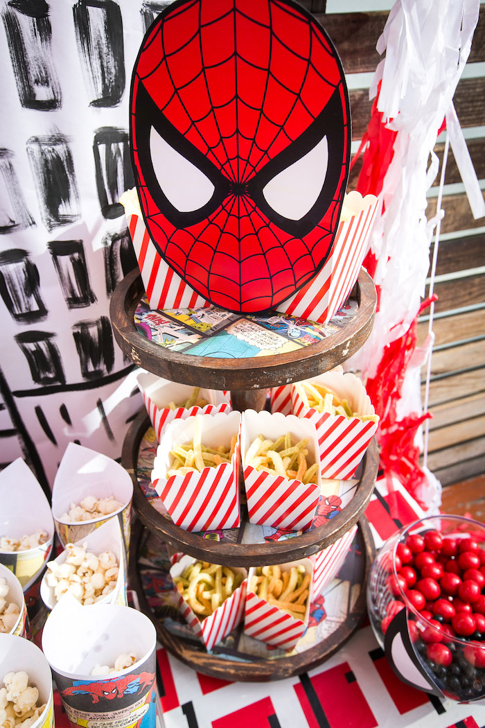 Kara S Party Ideas Spectacular Spider Man Birthday Party