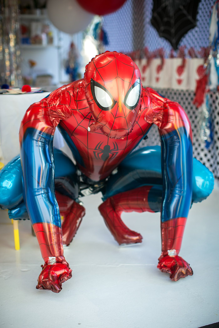 Mylar Spider Man balloon from a Spectacular Spider Man Birthday Party on Kara's Party Ideas | KarasPartyIdeas.com (13)