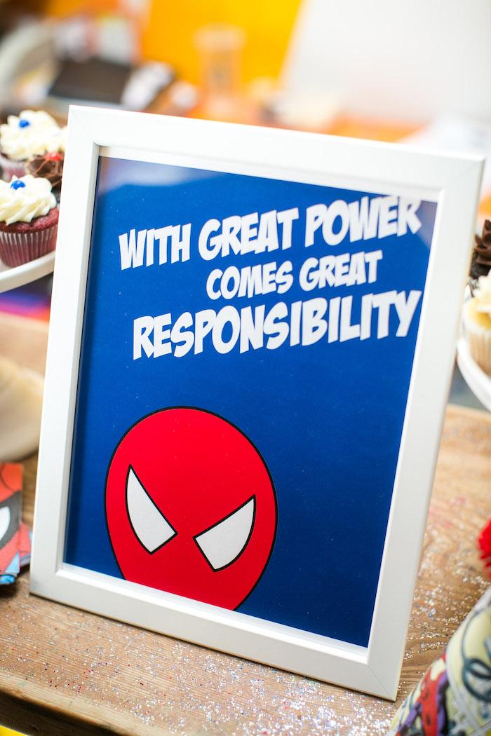 Spider Man print from a Spectacular Spider Man Birthday Party on Kara's Party Ideas | KarasPartyIdeas.com (8)
