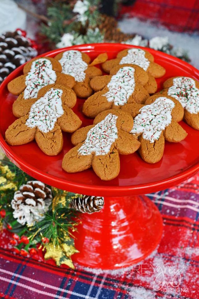 Gingerbread cookies from a Sweater Weather Holiday Cookie Exchange Party on Kara's Party Ideas | KarasPartyIdeas.com (24)