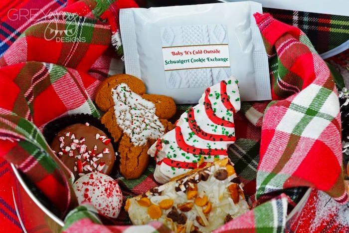 Cookies from a Sweater Weather Holiday Cookie Exchange Party on Kara's Party Ideas | KarasPartyIdeas.com (7)