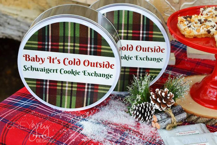 Christmas cookie tins from a Sweater Weather Holiday Cookie Exchange Party on Kara's Party Ideas | KarasPartyIdeas.com (38)