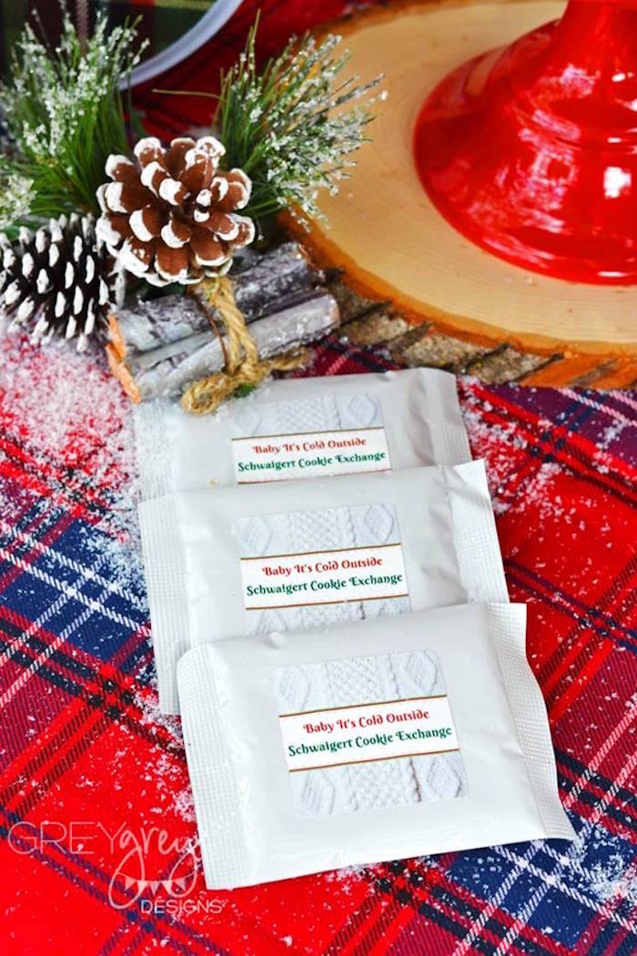 Hot cocoa packets from a Sweater Weather Holiday Cookie Exchange Party on Kara's Party Ideas | KarasPartyIdeas.com (36)