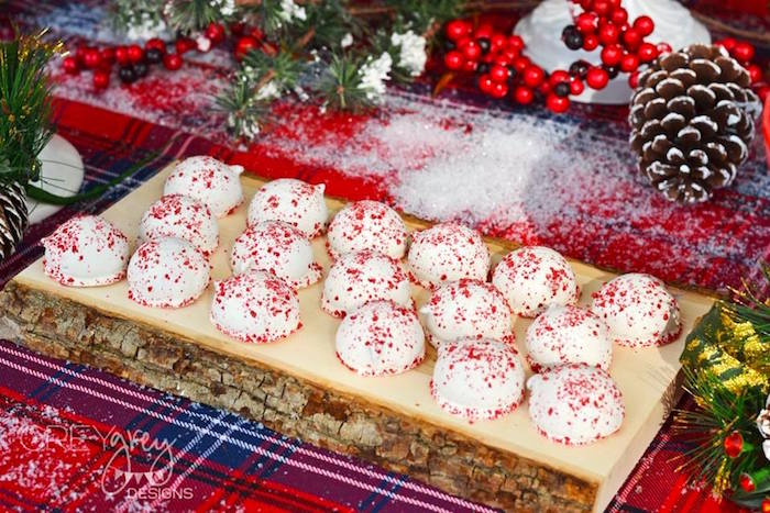 Cake balls from a Sweater Weather Holiday Cookie Exchange Party on Kara's Party Ideas | KarasPartyIdeas.com (35)