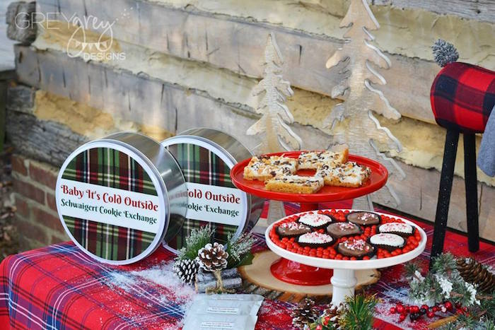 Cookies & tins from a Sweater Weather Holiday Cookie Exchange Party on Kara's Party Ideas | KarasPartyIdeas.com (33)