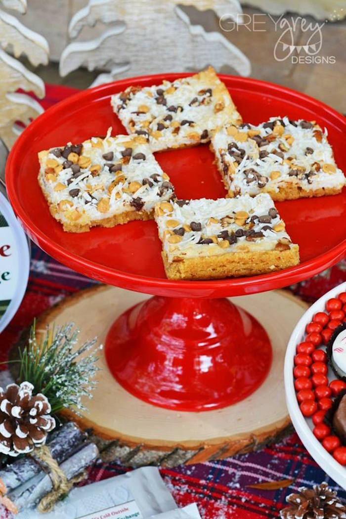 Cookie bars from a Sweater Weather Holiday Cookie Exchange Party on Kara's Party Ideas | KarasPartyIdeas.com (32)