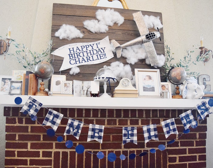 Time Flies Vintage Airplane 1st Birthday Party on Kara's Party Ideas | KarasPartyIdeas.com (3)