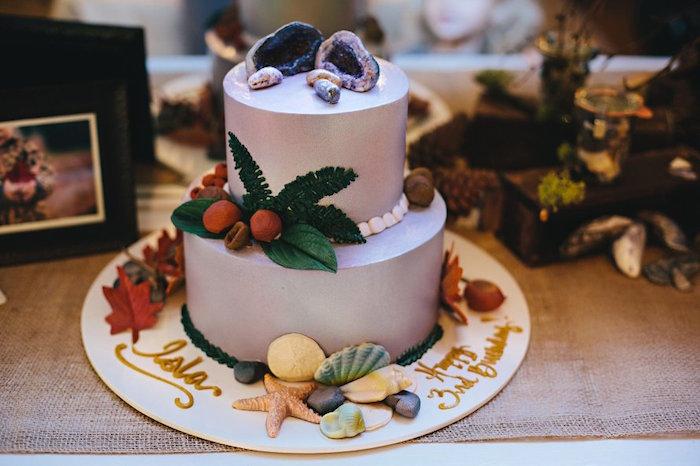 Cake from a Treasures & Trinkets Birthday Party on Kara's Party Ideas | KarasPartyIdeas.com (26)