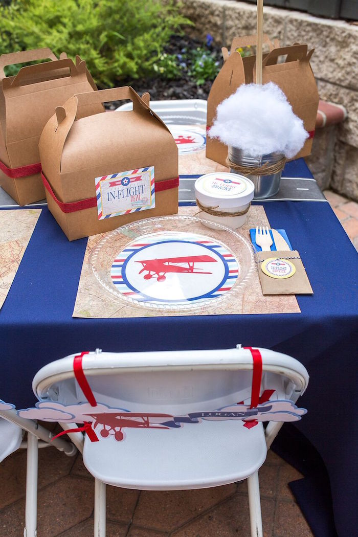 Kara S Party Ideas Vintage Airplane Birthday Party Kara