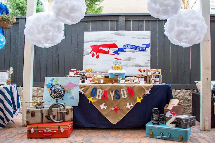 Vintage Airplane Birthday Party on Kara's Party Ideas | KarasPartyIdeas.com (40)