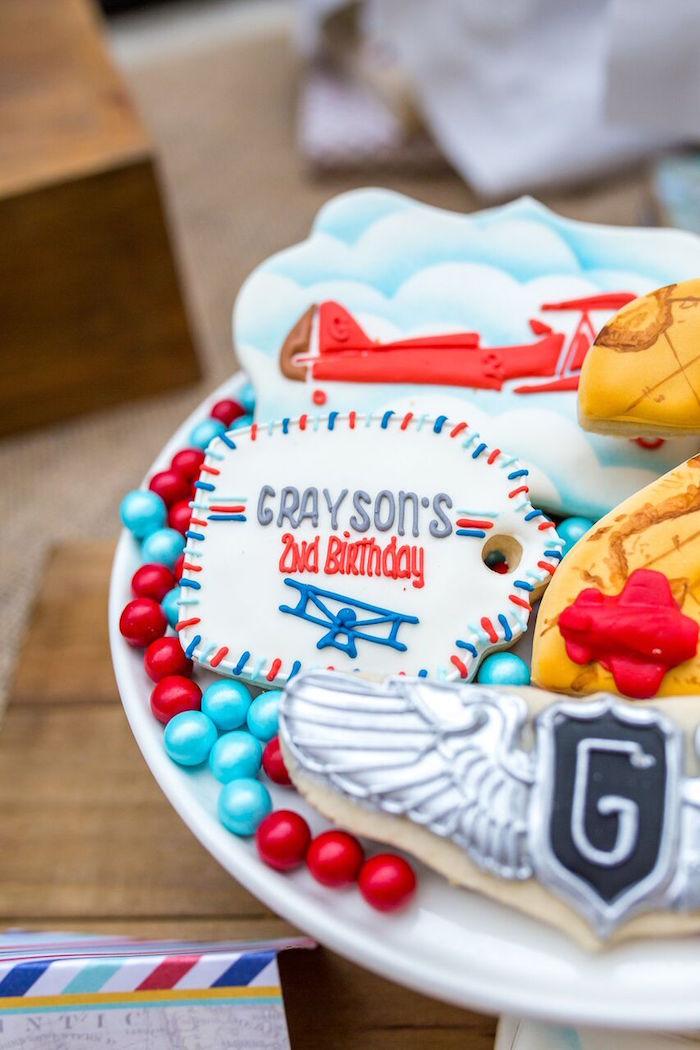 kara u0026 39 s party ideas vintage airplane birthday party