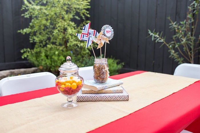 Guest table from a Vintage Airplane Birthday Party on Kara's Party Ideas | KarasPartyIdeas.com (71)