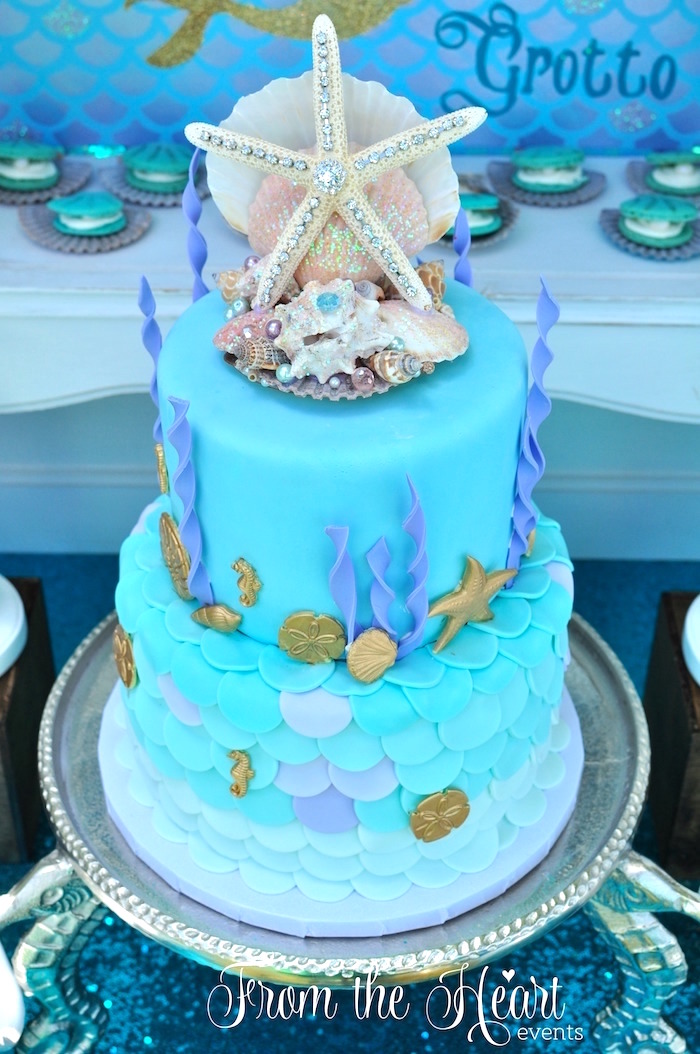 Kara S Party Ideas Vintage Glamorous Little Mermaid Birthday Party