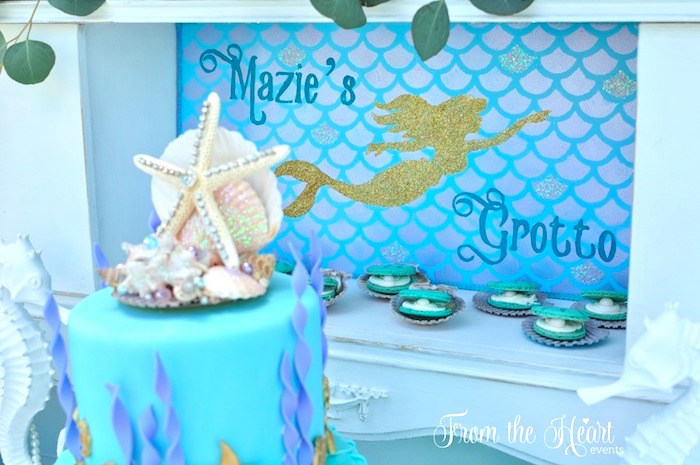 Vintage Glamorous Little Mermaid Birthday Party on Kara's Party Ideas | KarasPartyIdeas.com (43)