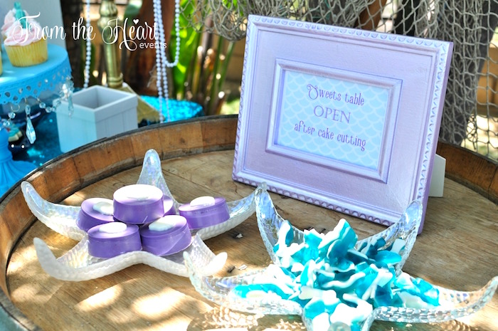 Vintage Glamorous Little Mermaid Birthday Party on Kara's Party Ideas | KarasPartyIdeas.com (42)