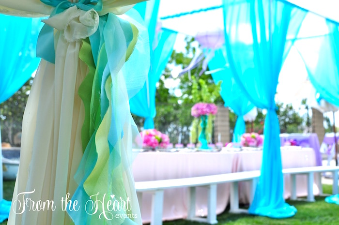 Bunting from a Vintage Glamorous Little Mermaid Birthday Party on Kara's Party Ideas | KarasPartyIdeas.com (17)