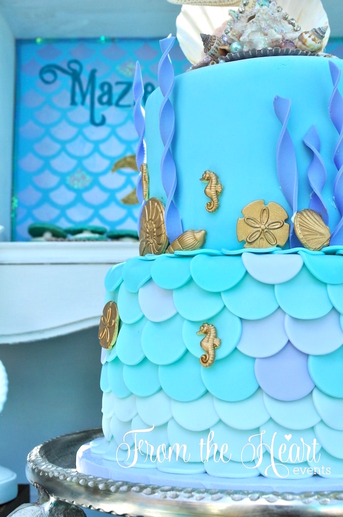 Kara S Party Ideas Vintage Glamorous Little Mermaid