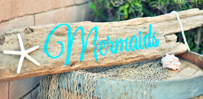 Vintage Glamorous Little Mermaid Birthday Party on Kara's Party Ideas | KarasPartyIdeas.com (4)