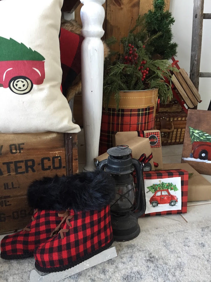 Decor from a Vintage Rustic Plaid Christmas Party on Kara's Party Ideas | KarasPartyIdeas.com (28)