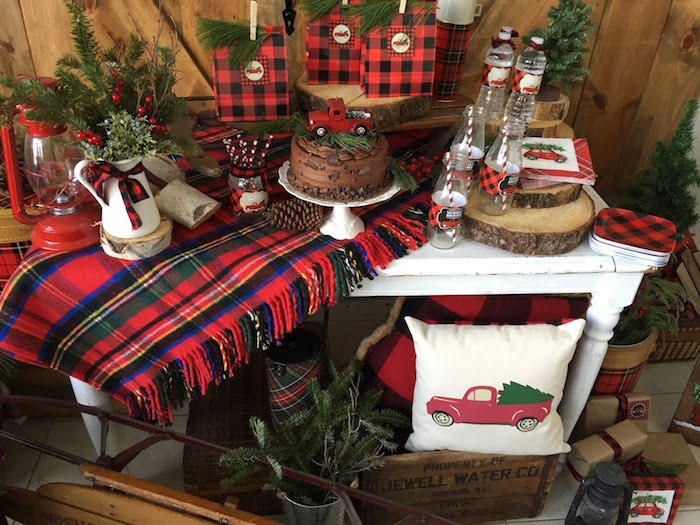 Vintage Rustic Plaid Christmas Party on Kara's Party Ideas | KarasPartyIdeas.com (27)