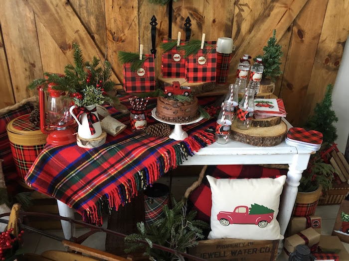 Vintage Rustic Plaid Christmas Party on Kara's Party Ideas | KarasPartyIdeas.com (26)