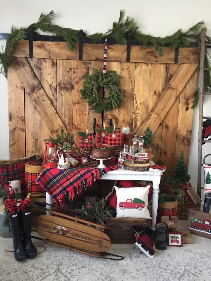 Vintage Rustic Plaid Christmas Party on Kara's Party Ideas | KarasPartyIdeas.com (25)