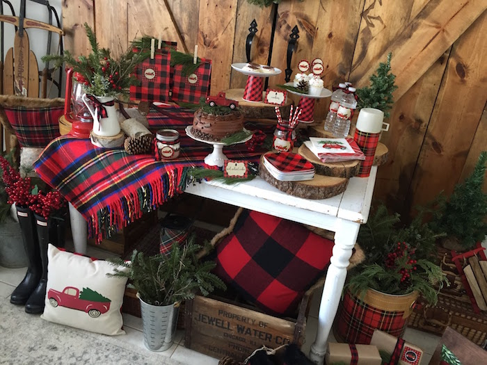 Vintage Rustic Plaid Christmas Party On Karas Ideas