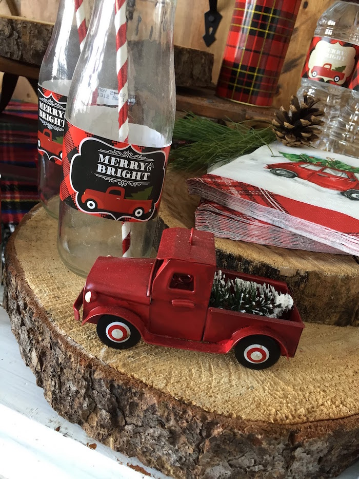 Vintage Rustic Plaid Christmas Party on Kara's Party Ideas | KarasPartyIdeas.com (33)