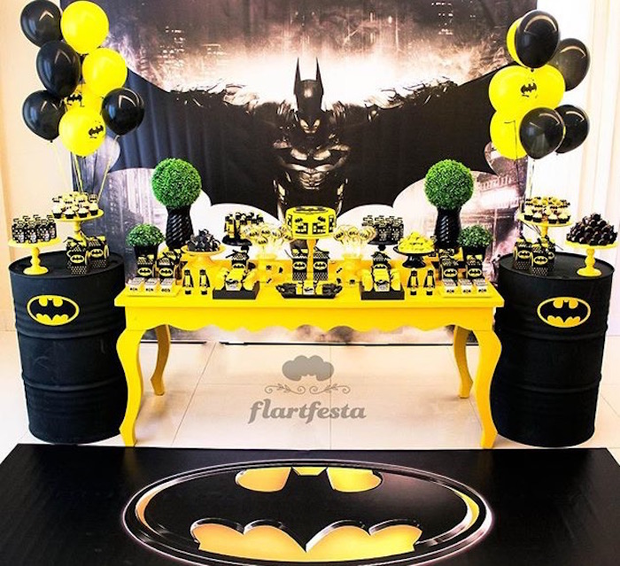 Karas Party Ideas Black and Yellow Batman Birthday Party Karas