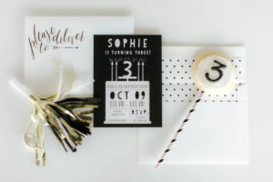 Invitation + party signage from a Black & White Kitty Birthday Party on Kara's Party Ideas | KarasPartyIdeas.com (15)