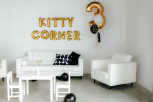 Kitty Corner from a Black & White Kitty Birthday Party on Kara's Party Ideas | KarasPartyIdeas.com (9)