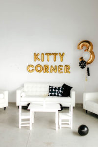 Kitty Corner from a Black & White Kitty Birthday Party on Kara's Party Ideas | KarasPartyIdeas.com (8)
