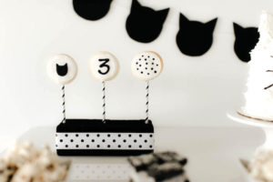 Oreo cookie pops from a Black & White Kitty Birthday Party on Kara's Party Ideas | KarasPartyIdeas.com (28)