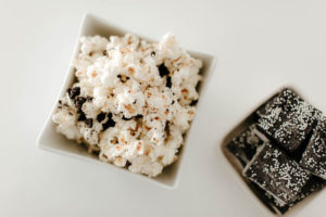Cookies and Cream Popcorn from a Black & White Kitty Birthday Party on Kara's Party Ideas | KarasPartyIdeas.com (24)