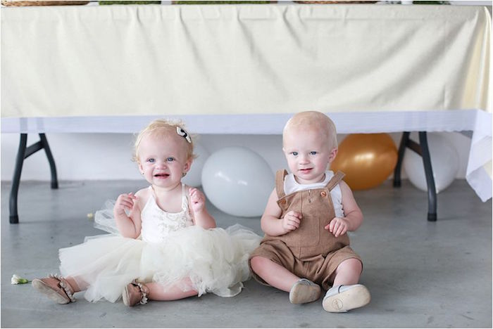 Baby Beauties from a Boho Wildflower Birthday Party for Twins on Kara's Party Ideas | KarasPartyIdeas.com (6)