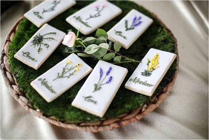 Wildflower cookies from a Boho Wildflower Birthday Party for Twins on Kara's Party Ideas | KarasPartyIdeas.com (12)