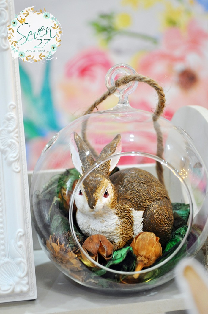 Bunny bauble from a Bunnies in Springtime Birthday Party on Kara's Party Ideas | KarasPartyIdeas.com (7)